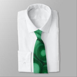 Grüne Malachit-Stein-Bild-Krawatte Krawatte