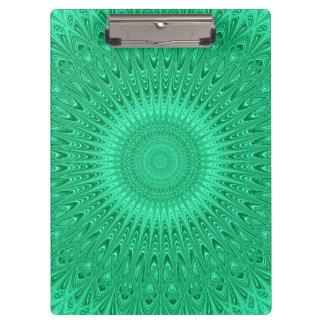 Grüne Mandala 2 Klemmbrett