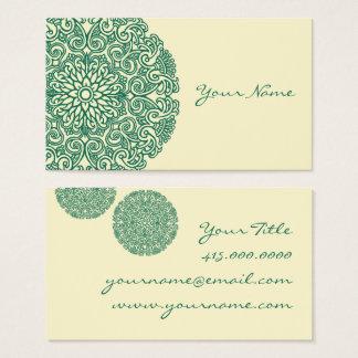 Grüne Mandala Visitenkarte