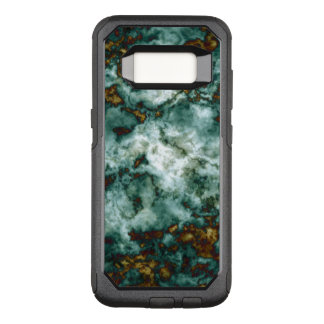 Grüne Marmorbeschaffenheit mit Adern OtterBox Commuter Samsung Galaxy S8 Hülle