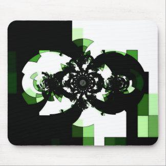 Grüne Maschinen-geometrische Zusammensetzung Mousepad