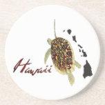 Grüne Meeresschildkröte Hawaiis Bierdeckel