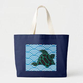 Grüne Meeresschildkröte Hawaiis Jumbo Stoffbeutel