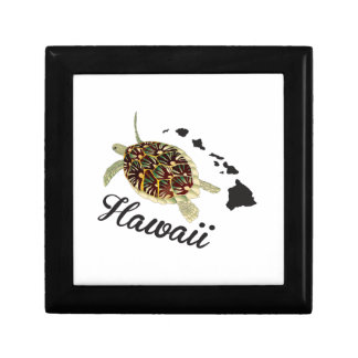 Grüne Meeresschildkröte Hawaiis Kleine Quadratische Schatulle