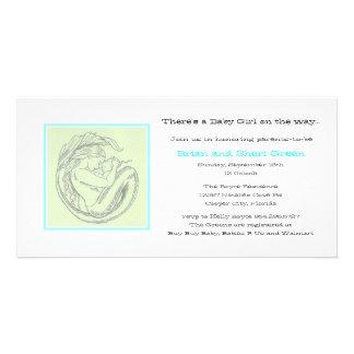 Grüne Meerjungfrau BB Dusche laden ein Bilderkarten