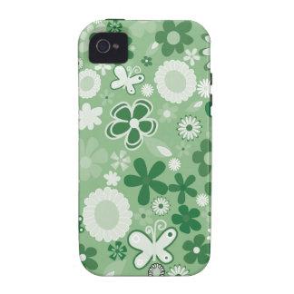Grüne MischBlumen iPhone 4 Case