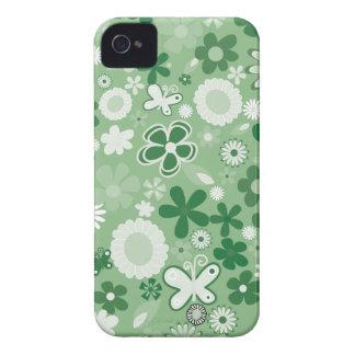 Grüne MischBlumen iPhone 4 Cover