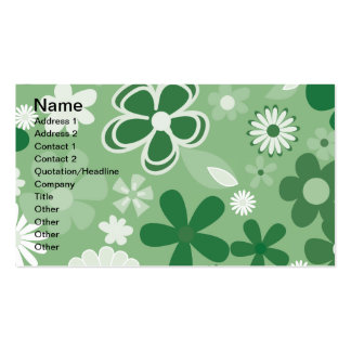 Grüne MischBlumen Visitenkarten