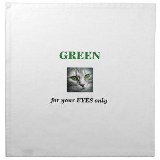 grüne mit Augen Katze Serviette