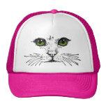 Grüne mit Augen Katzen-Gesichts-Bärte Truckerkappe