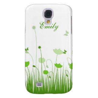 Grüne Mohnblumen Galaxy S4 Hülle