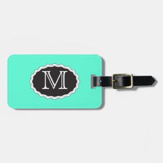 Grüne Monogramm-Gepäck-Taschen-Umbau-Schablone Kofferanhänger