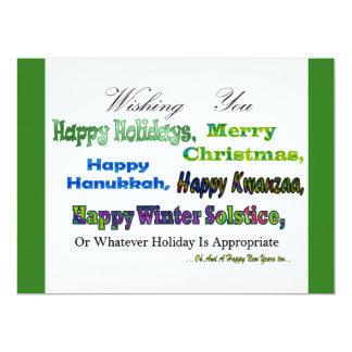 Grüne multi Feiertagsgrüße 16,5 X 22,2 Cm Einladungskarte