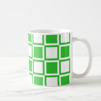 Grüne mutige Mod-Quadrate Kaffeetasse