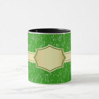 grüne Name-/Textkaffee-Tasse Tasse