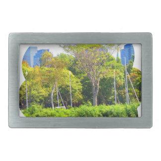 Grüne Natur-Fotografie Bostons USA Amerika Rechteckige Gürtelschnallen