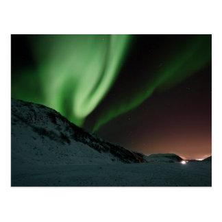 Grüne Nordlicht-Aurora Borealis Norwegen Postkarte