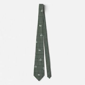 Grüne nPlaid Tatzen-Druck-Krawatte Krawatten