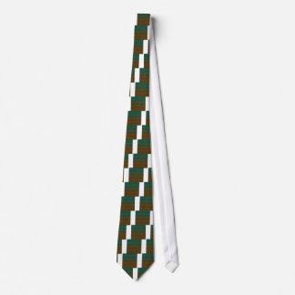 Grüne orange geometrische Steigung Personalisierte Krawatten