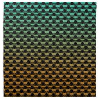 Grüne orange geometrische Steigung Serviette