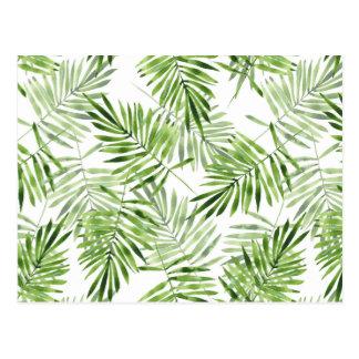 Grüne Palmblätter Postkarte
