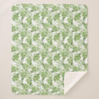 Grüne Palmblätter Sherpadecke