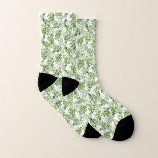 Grüne Palmblätter Socken