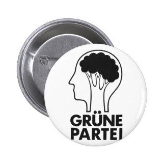 Grüne Partei Runder Button 5,1 Cm