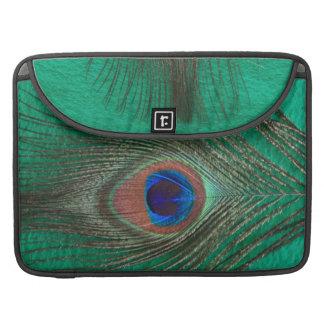 "Grüne Pfau-Feder MacBook Pro 15"" Hülse Sleeve Für MacBooks"