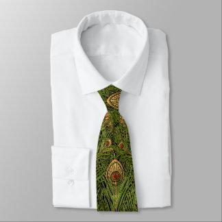 Grüne Pfau-Federn Bedruckte Krawatten