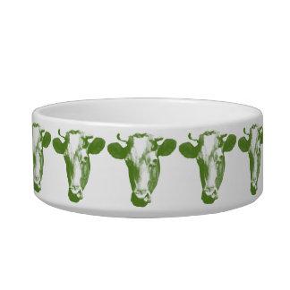 Grüne Pop-Kunst-Kuh Napf