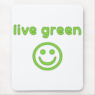 Grüne Prolebhaftumwelt-ökologisches Mousepads