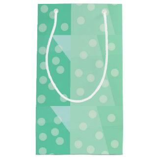 Grüne Punkte und Stellen-Geschenk-Tasche Kleine Geschenktüte