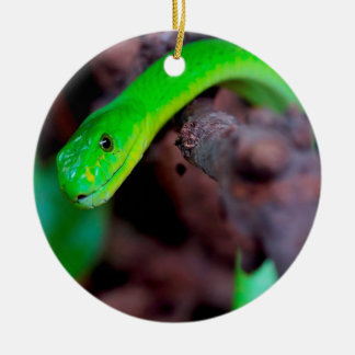 Grüne Pythonschlange-Schlange Keramik Ornament