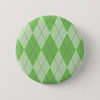 Grüne Raute Runder Button 5,7 Cm