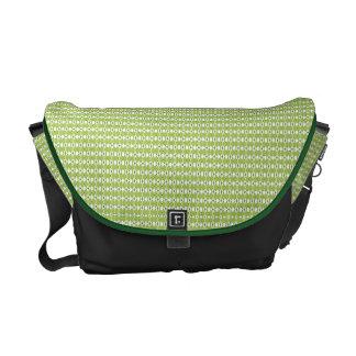 Grüne Rauten-Bote-Tasche Kurier Taschen
