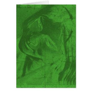 Grüne Reflexionen Grußkarte