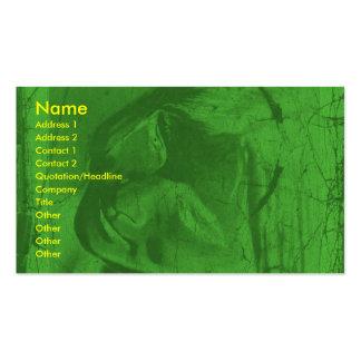 Grüne Reflexions-Künstler-Visitenkarte