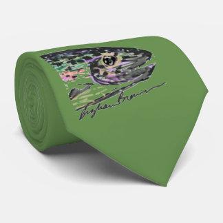 Grüne Regenbogenforelle-Krawatte Krawatte