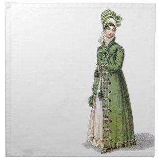 Grüne Regentschafts-Dame Serviette