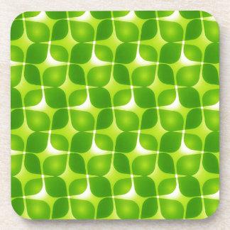 Grüne Retro Art Untersetzer