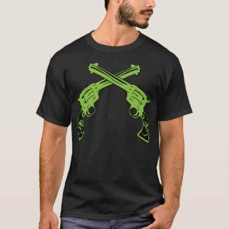 Grüne Retro Pistolen T-Shirt