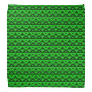 Grüne Rhombus™ Bandanna Kopftuch