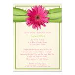 Grüne rosa individuelle einladung