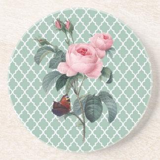 Grüne Rose Orient Untersetzer