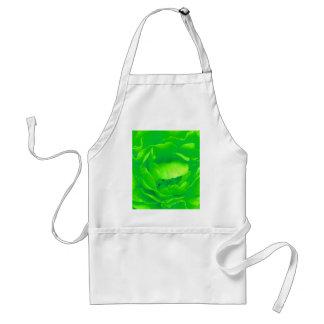 Grüne Rosen-Schürze - kundengerecht