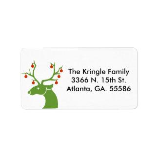Grüne Rotwild-Adressen-Etiketten Adress Aufkleber