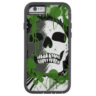 grüne Schädelkopf-Graffitikunst Tough Xtreme iPhone 6 Hülle