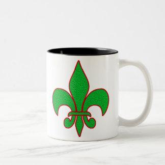 Grüne Schein-Lilie Zweifarbige Tasse