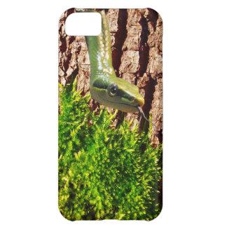Grüne Schlange auf Baumrinde-Reptil-Tier-Entwurf iPhone 5C Hülle